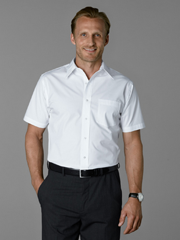 Men's Short Sleeve Solid Broadcloth Shirt